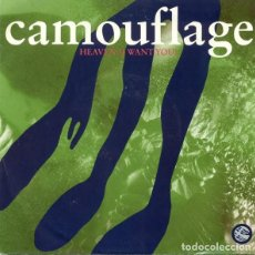 Discos de vinilo: CAMOUFLAGE - HEAVEN (I WANT YOU) / WHO THE HELL IS DAVID BUTLER - SINGLE GERMANY 1991 . Lote 171480200