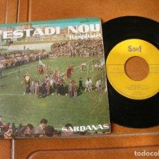 Discos de vinilo: DISCO L'ESTADI NOU HOSPITALET SARDANAS AÑO 1959. Lote 171485378
