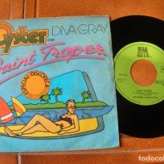 Discos de vinilo: DISCO DE SAINT TROPEZ , OISTER CON DIVA GRAY. Lote 171485598