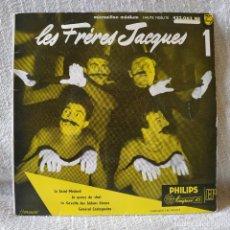 Discos de vinilo: LES FRÉRES JACQUES - LA SAINT-MÉDARD + 3 - EP PHILIPS DEL AÑO 1956 EN EXCELENTE ESTADO. Lote 171490348