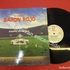 Discos de vinilo: EN DIRECTO. BARON ROJO. SIEMPRE ESTÁIS ALLÍ. LP ZAFIRO. Lote 171504357