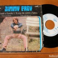 Discos de vinilo: DISCO DE JIMMY FREY ,ROSAS A SANDRA Y YO SOY DE CARNE Y HUESO. Lote 171514482