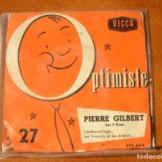 Discos de vinilo: DISCO DE PIERRE GILBERT N,27 . Lote 171521279