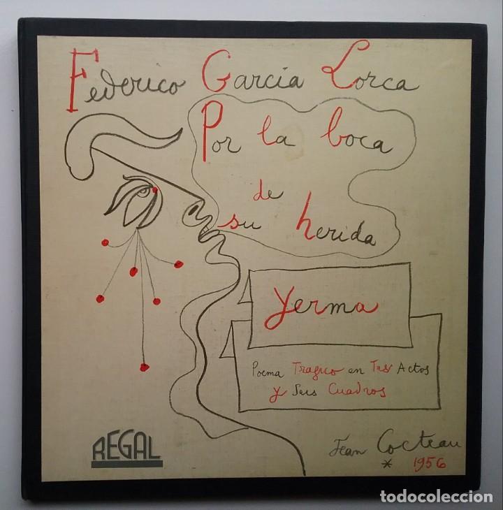 YERMA GARCIA LORCA 2 LPS ESTUCHE ILUSTRADO JEAN COCTEAU (Música - Discos - LP Vinilo - Otros estilos)