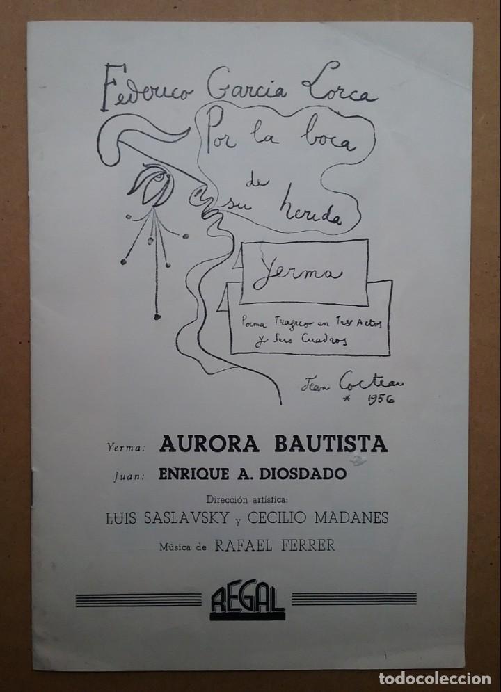Discos de vinilo: YERMA GARCIA LORCA 2 LPS ESTUCHE ILUSTRADO JEAN COCTEAU - Foto 5 - 171542707