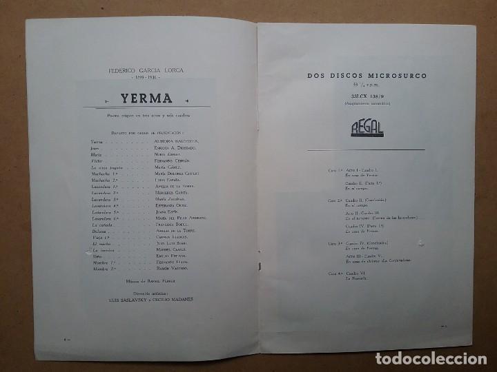 Discos de vinilo: YERMA GARCIA LORCA 2 LPS ESTUCHE ILUSTRADO JEAN COCTEAU - Foto 6 - 171542707