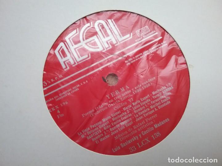 Discos de vinilo: YERMA GARCIA LORCA 2 LPS ESTUCHE ILUSTRADO JEAN COCTEAU - Foto 9 - 171542707