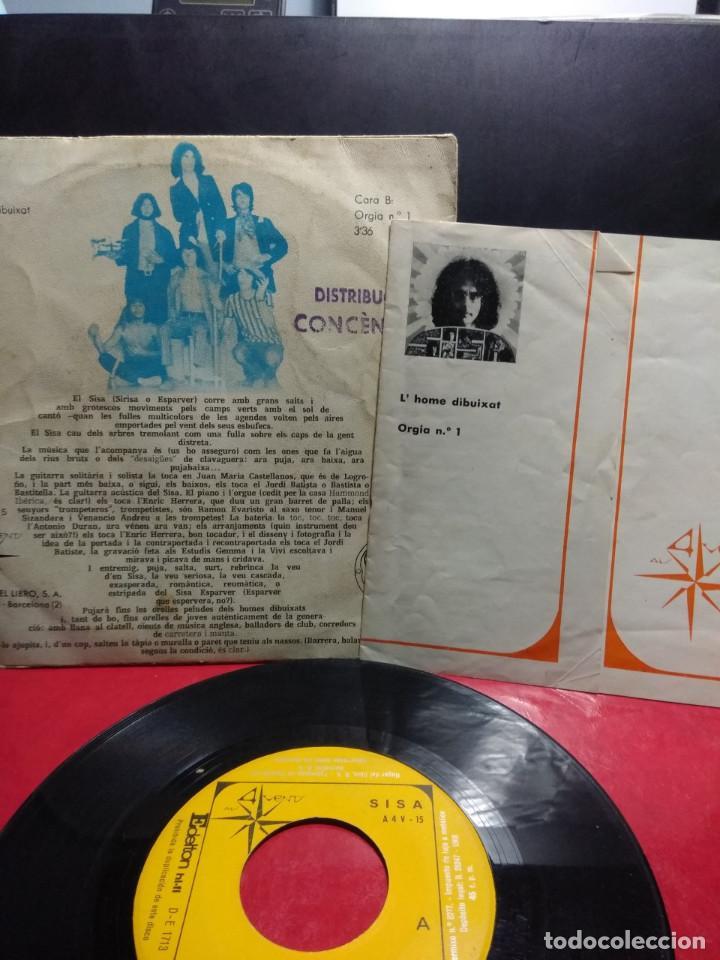 Discos de vinilo: SG SISA : LHOME DIBUIXAT + ORGIA Nº1 ( INCLUYE ENCARTE CON LAS LETRAS ) - Foto 2 - 171545380