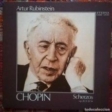 Discos de vinilo: CHOPIN 4 SCHERZOS POR ARTHUR RUBINSTEIN. VINILO SELLO ETERNA GRABADO EN ALEMANIA. Lote 171552564