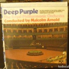 Discos de vinilo: DEEP PURPLE - IN LIVE CONCERT AT THE ROYAL ALBERT HALL. ALBUM LP 1969 ORIGINAL GERMANY, NM-NM. Lote 171570643