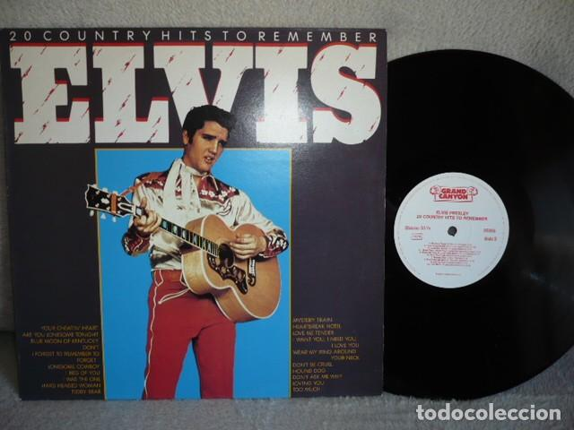 Discos de vinilo: ELVIS 20 COUNTRY HIST TO REMEMBER - Foto 1 - 171570764