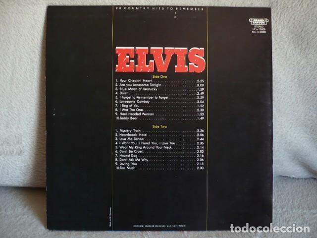 Discos de vinilo: ELVIS 20 COUNTRY HIST TO REMEMBER - Foto 2 - 171570764