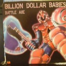 Discos de vinilo: BILLION DOLLAR BABIES - BATTLE AXE VINYL LP USA 1ST PRESS 1977 A1/B1 EX/NM. Lote 171574678