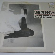 Discos de vinilo: DISCO SINGLE VINILO LED ZEPPELIN . CANDY STORE ROCK . ROYAL ORLEANS . CARATULA ROTA . Lote 171588403