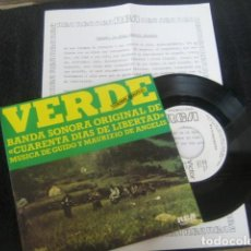 Discos de vinilo: GUIDO & MAURIZIO DE ANGELIS 40 DIAS LIBERTAD BSO*********** RARO SINGLE PROMO 1976 CON HOJAS PROMO!. Lote 171594222