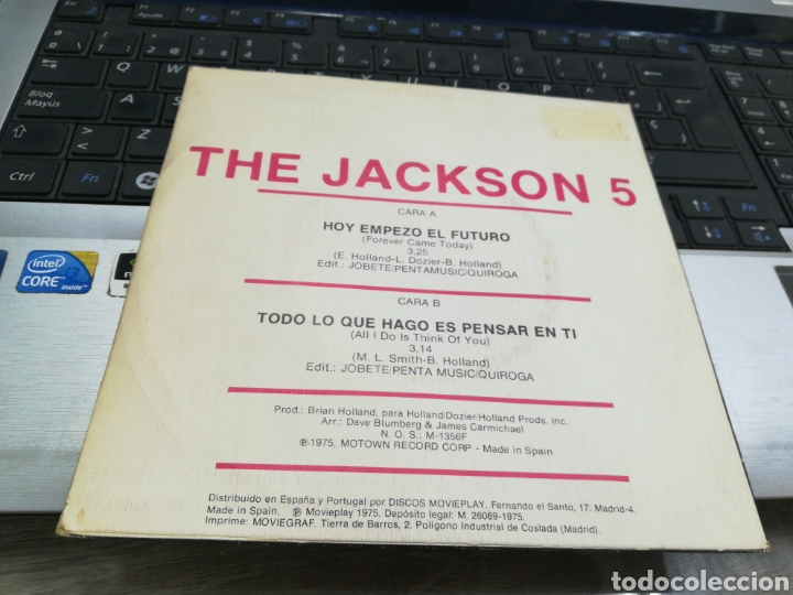 Discos de vinilo: Jackson 5 single hoy empezó el futuro españa 1975 - Foto 2 - 171595823