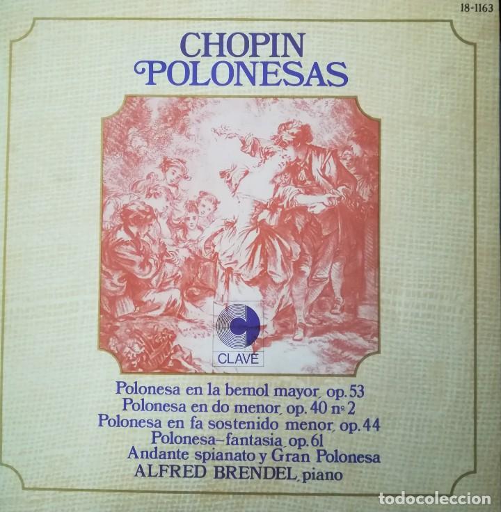 CHOPIN, 5 POLONESAS INTERPRETADAS POR ALFRED BRENDEL (PIANO) (Música - Discos - Singles Vinilo - Clásica, Ópera, Zarzuela y Marchas)