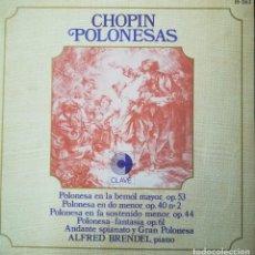 Discos de vinilo: CHOPIN, 5 POLONESAS INTERPRETADAS POR ALFRED BRENDEL (PIANO). Lote 171612759