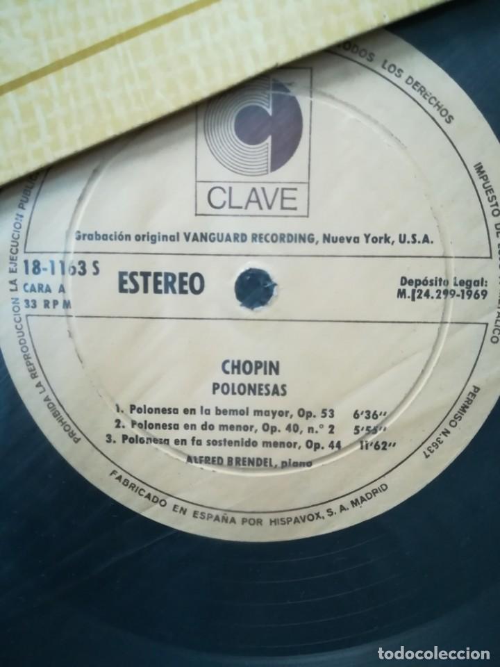 Discos de vinilo: Chopin, 5 polonesas interpretadas por Alfred Brendel (piano) - Foto 3 - 171612759