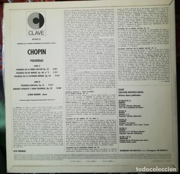 Discos de vinilo: Chopin, 5 polonesas interpretadas por Alfred Brendel (piano) - Foto 4 - 171612759