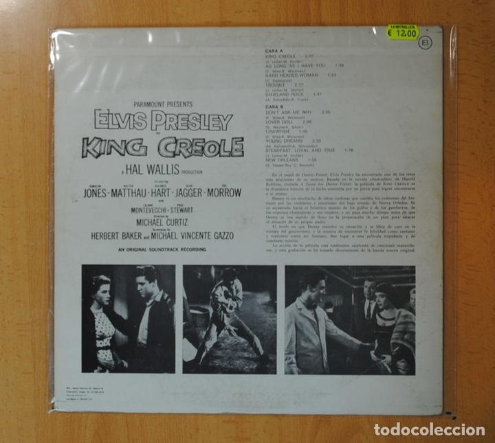 Discos de vinilo: ELVIS PRESLEY - KING CREOLE - BSO - LP - Foto 2 - 171620888