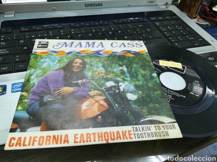 MAMA CASS SINGLE CALIFORNIA EARTHQUAKE ESPAÑA 1968 (Música - Discos - Singles Vinilo - Pop - Rock Extranjero de los 50 y 60)