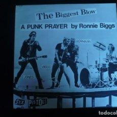 Discos de vinilo: SEX PISTOLS THE BIGGEST BLOW - LP COMO NUEVO. Lote 171628044