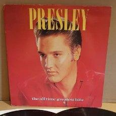 Discos de vinilo: ELVIS PRESLEY / THE ALL TIME GREATEST HITS / DOBLE LP - RCA-1988 / MBC. ***/***. Lote 171629179