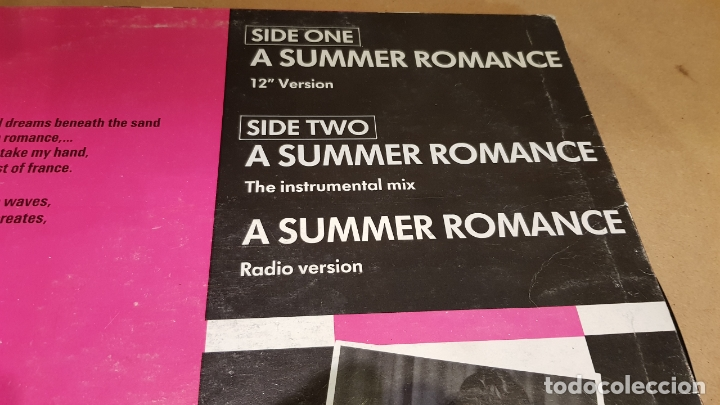 Discos de vinilo: JULIA CLAIRE / A SUMMER ROMANCE / MAXI SG - LEIBER RECORDS-1987 / MBC. ***/*** - Foto 3 - 171629779