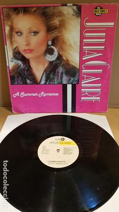 JULIA CLAIRE / A SUMMER ROMANCE / MAXI SG - LEIBER RECORDS-1987 / MBC. ***/*** (Música - Discos de Vinilo - Maxi Singles - Disco y Dance)