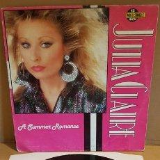 Discos de vinilo: JULIA CLAIRE / A SUMMER ROMANCE / MAXI SG - LEIBER RECORDS-1987 / MBC. ***/***. Lote 171629779