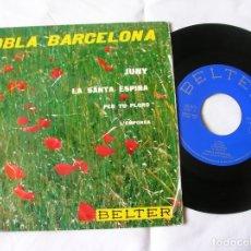 Discos de vinilo: DISCO DE COBLA BARCELONA INCLUYE 4 CANCIONES. Lote 171632794