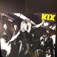 Discos de vinilo: KIX KIX LP 1981 FIRMADO PROMO COPY. Lote 171638394
