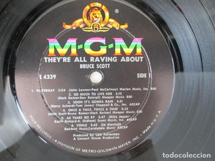 Discos de vinilo: THEY´RE ALL RAVING ABOUT BRUCE SCOTT. LP VINILO. MGN RECORDS. VER FOTOGRAFIAS ADJUNTAS - Foto 4 - 171648805