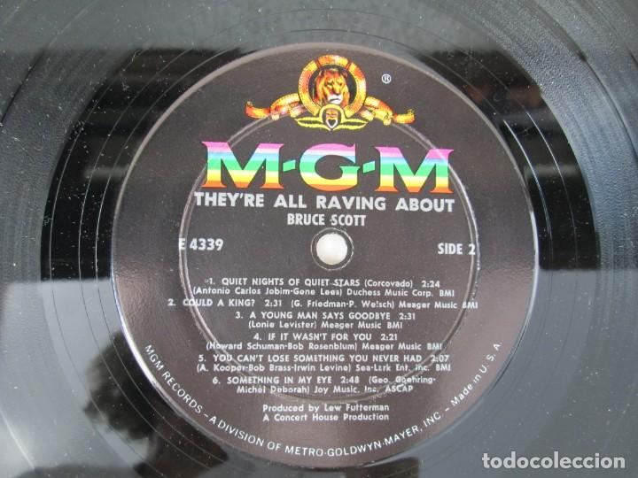 Discos de vinilo: THEY´RE ALL RAVING ABOUT BRUCE SCOTT. LP VINILO. MGN RECORDS. VER FOTOGRAFIAS ADJUNTAS - Foto 6 - 171648805