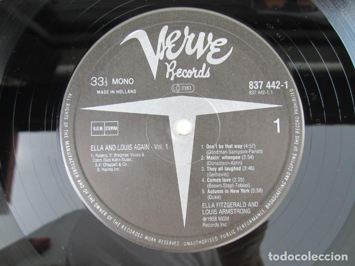 Discos de vinilo: ELLA AND LOUIS AGAIN. VOL. 1. LP VINILO. VERVE RECORDS 1958. VER FOTOGRAFIAS ADJUNTAS - Foto 4 - 171649247