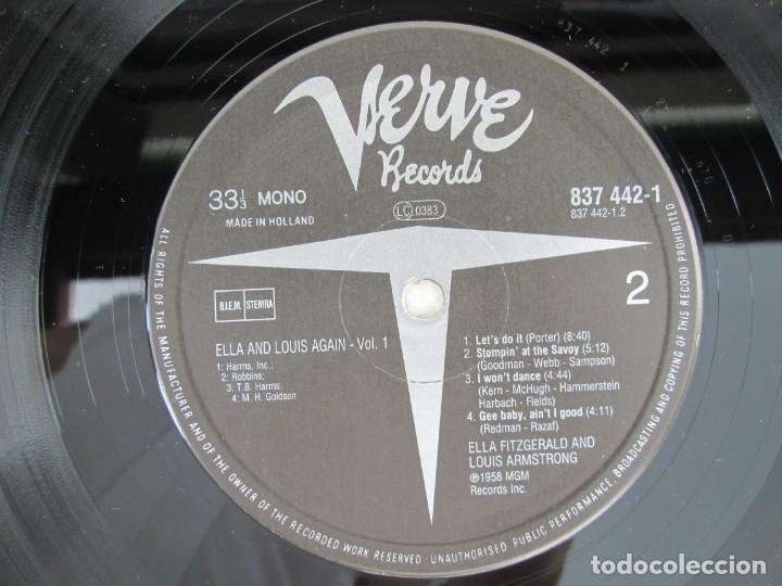 Discos de vinilo: ELLA AND LOUIS AGAIN. VOL. 1. LP VINILO. VERVE RECORDS 1958. VER FOTOGRAFIAS ADJUNTAS - Foto 6 - 171649247