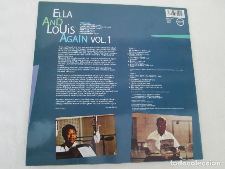 Discos de vinilo: ELLA AND LOUIS AGAIN. VOL. 1. LP VINILO. VERVE RECORDS 1958. VER FOTOGRAFIAS ADJUNTAS - Foto 8 - 171649247