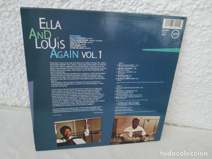 Discos de vinilo: ELLA AND LOUIS AGAIN. VOL. 1. LP VINILO. VERVE RECORDS 1958. VER FOTOGRAFIAS ADJUNTAS - Foto 9 - 171649247