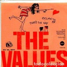 Discos de vinilo: THE VALUES / RETURN TO ME / THAT'S THE WAY (SINGLE 1968). Lote 171651359