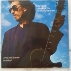 Discos de vinilo: GEORGE HARRISON. ( BEATLES ). GOT MY MIND SET ON YOU. VERSION EXTENDIDA. MAXI SINGLE ESPAÑA 3 TEMAS. Lote 171651739
