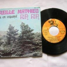 Discos de vinilo: DISCO DE MIREILLE MATHIEU ,CANTA EN ESPAÑOL ,RIN RIN ,NAVIDADES BLANCAS. Lote 171656724