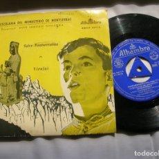 Discos de vinilo: DISCO DE LA ESCOLANIA DEL MONASTERIO DE MONTSERRAT. Lote 171662802