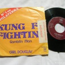 Discos de vinilo: DISCO DE CARL DOUGLAS TEMAS ,GAMBLIN MAN ,KUNG FU FIGHTING AÑO 1974. Lote 171664145