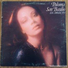 Discos de vinilo: PALOMA SAN BASILIO LP EN DIRECTO PORTADA GATEFOLD DISCO EXCELENTE. Lote 171664880