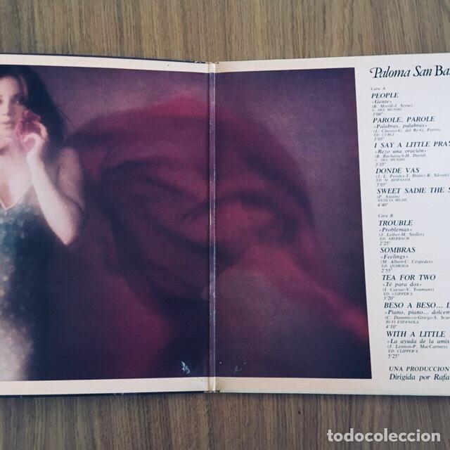 Discos de vinilo: PALOMA SAN BASILIO LP EN DIRECTO PORTADA GATEFOLD DISCO EXCELENTE - Foto 2 - 171664880