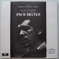 Discos de vinilo: PACO IBAÑEZ - POEMAS DE GARCIA LORCA Y LUIS DE GONGORA (LP POLYDOR) PORTADA DALI. Lote 171667075