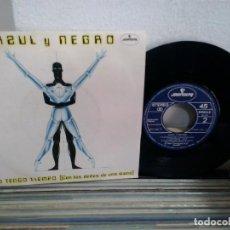Disques de vinyle: LMV - AZUL Y NEGRO. NO TENGO TIEMPO / FANTASIA DE PIRATAS. MERCURY 1983, REF. 812-124-7. Lote 171668652