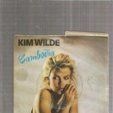 Discos de vinil: KIM WILDE CAMBODIA (FUNDA MUY ESTROPEADA PARA APROVECHAR EL VINILO). Lote 194288647