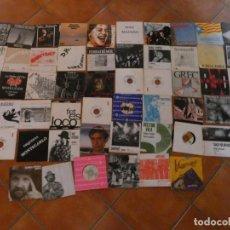 Discos de vinilo: LOTE 56 SINGLES CREO QUE SIN PONER DE GRUPOS RAROS DE POP ROCK CATALAN AÑOS 80 ETC ...VER LISTA. Lote 171671035